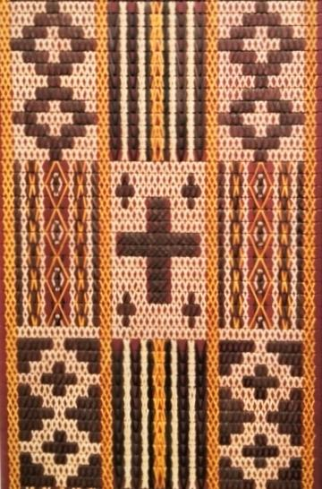 Tukutuku with mumu pattern at Waiapu Anglican Cathedral of St John the Evangelist in Napier