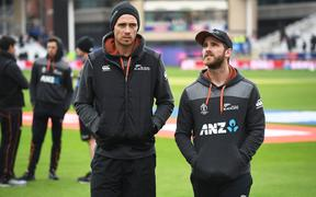 Tim Southee and Kane Williamson.
