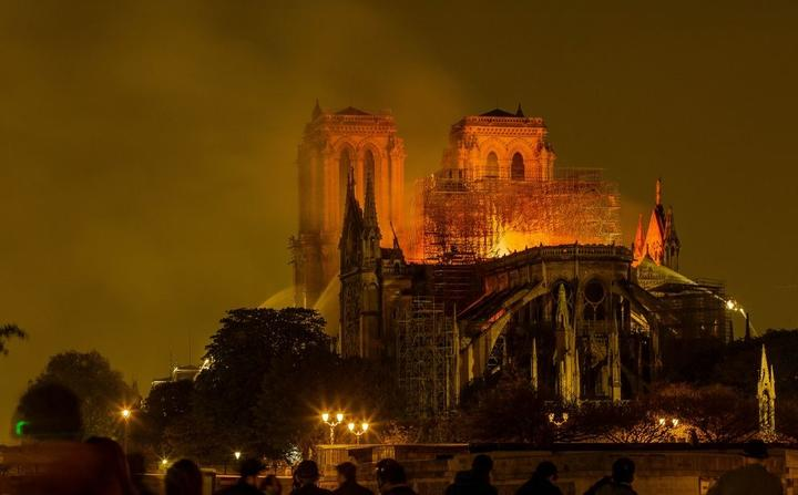 Cathedral of Notre-Dame (Notre Dame) burning 15/04/2019 ©Julien FAURE/Leextra via Leemage