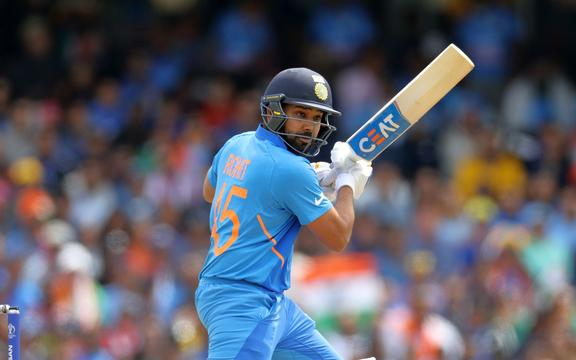 Rohit Sharma bats during the Cricket World Cup 2019.