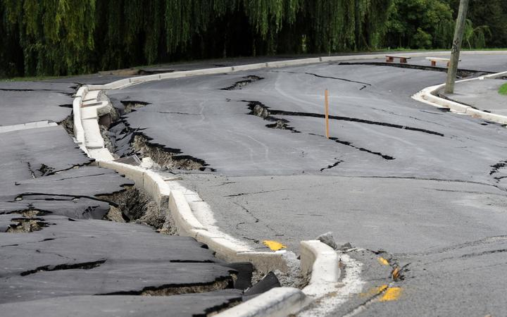 Damaged road Christchurch February 2011 (file photo)