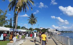 Waterfront at Port Vila, the capital of Vanuatu