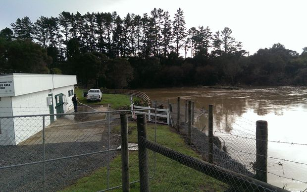Paihia's water treatment plant became clogged with silt.