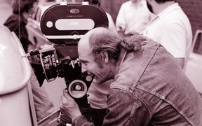 Cinematographer Robby Müller on set