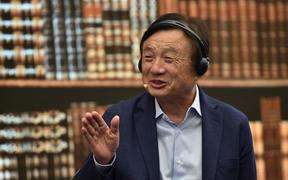 Huawei founder and CEO Ren Zhengfei speaks as he hosts a panel discussion on technology, markets and enterprise in Shenzhen, Guangdong province, on June 17, 2019.