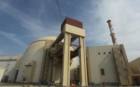 This file photo taken on October 26, 2010 shows the reactor building at the Russian-built Bushehr nuclear power plant in southern Iran, 1200km south of Tehran.