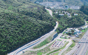 The Haywards Hill interchange / State Highway 58 in Lower Hutt.