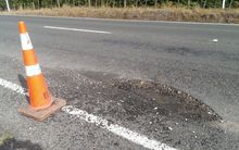 The storm has left region's roads littered with potholes.