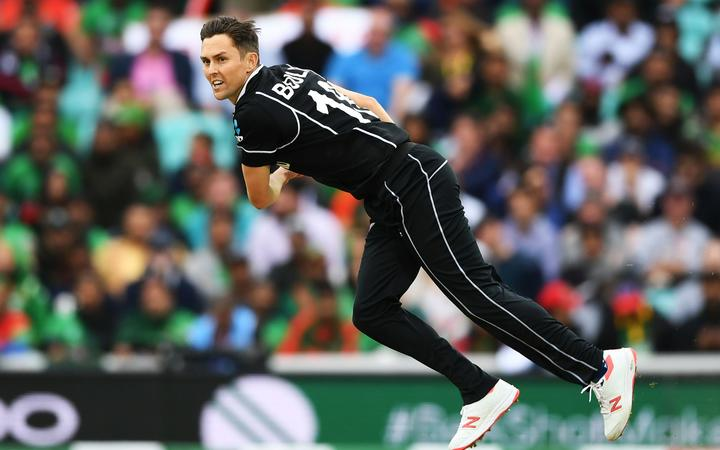 Trent Boult bowling at World Cup.