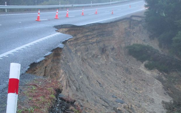 State Highway 1 at Maromaku, south of Kawakawa, remains closed due to storm damage.