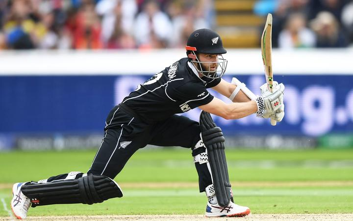 Kane Williamson batting.
