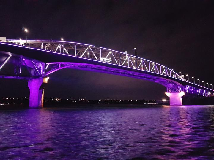 A preview of Auckland Harbour Bridge light display that will be on show during Matariki.
