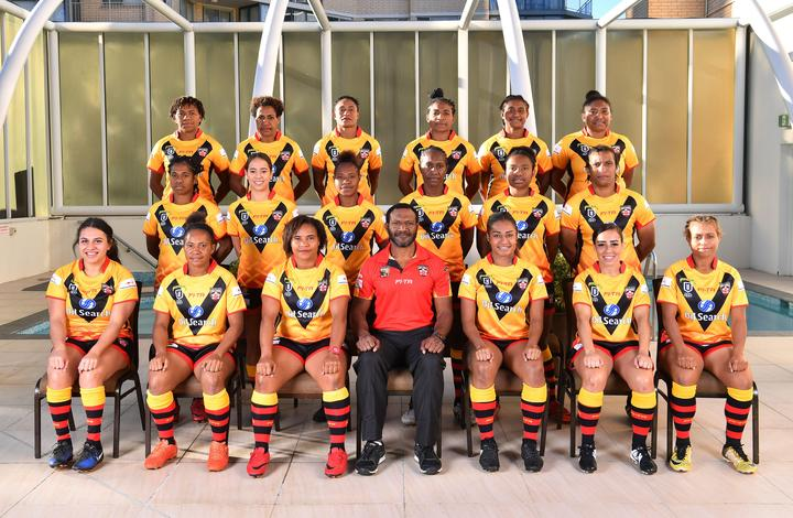 The PNG Orchids team to face Fiji in the 2019 Pacific Test Invitational.