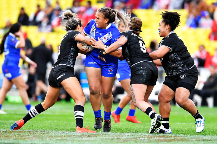 Kiwi Ferns v Fetu Samoa, Mt Smart, New Zealand. 22 June 2019. © Copyright Image: Marc Shannon / www.photosport.nz.
