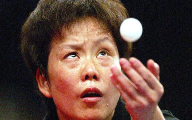 New Zealand table tennis player Li Chunli.