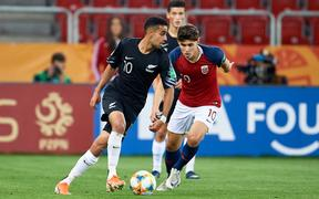 Sarpreet Singh in action for the New Zealand under-20 side at the World Cup.