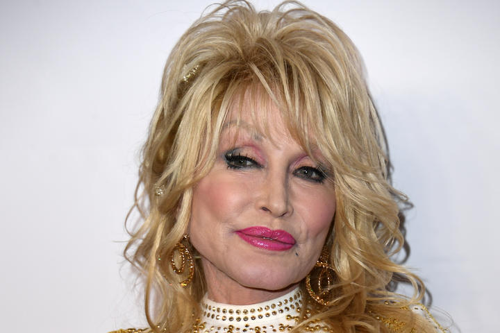 US singer-songwriter and 2019 MusiCares Person Of The Year Dolly Parton arrives for the 2019 MusiCares Person Of The Year gala at the Los Angeles Convention Center in Los Angeles on February 8, 2019. (Photo by Valerie MACON / AFP)