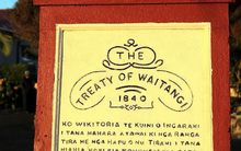 Treaty of Waitangi sign