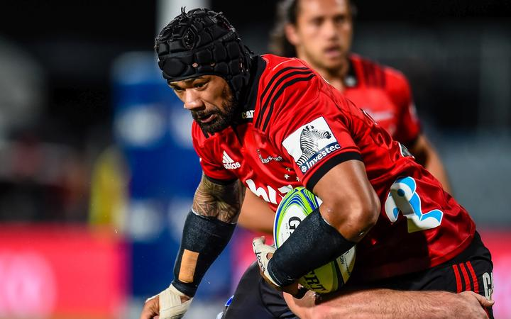 Jordan Taufua will play his 100th game for the Crusaders against the Hurricanes.