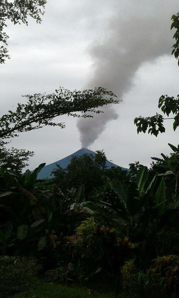 Mt Ulawun, known to locals as 'The Father', started erupting on Wednesday morning.