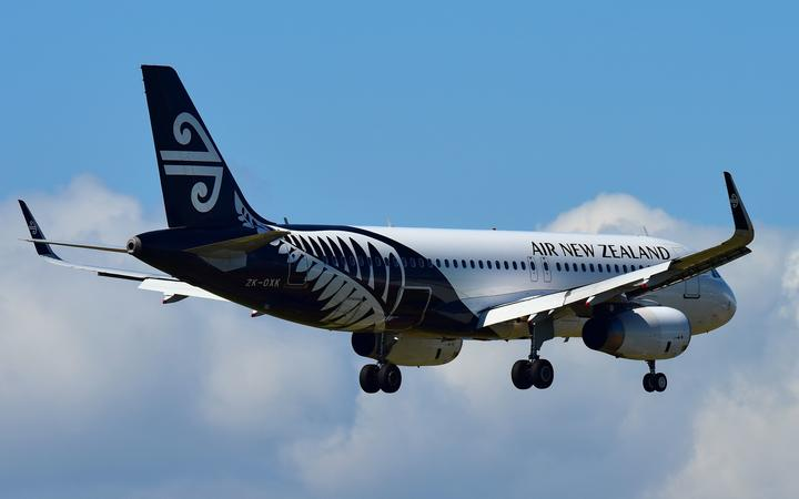 AUCKLAND, NEW ZEALAND - DECEMBER 17: Air New Zealand Airbus A320 landing at Auckland International Airport on December 17, 2017 in Auckland