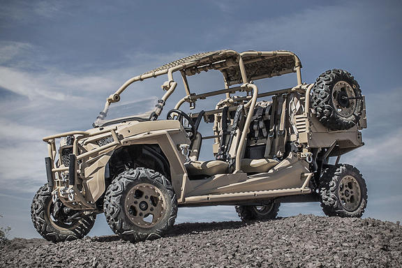 The Polaris MRZR  - a type of all-terrain vehicle.