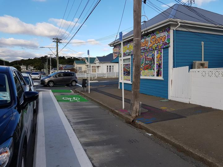 Seventeen parking spaces were removed when the new cycleway on Rongotai Road in Kilbirnie was installed.