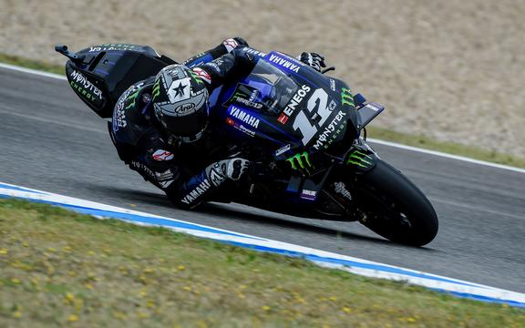 Maverick Vinales of Yamaha MotoGP
