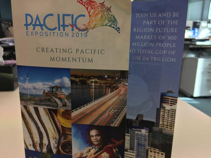 Flier for the Pacific Expo 2019 in Auckland, organised by Indonesia's government.
