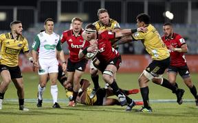 Kieran Read of the Crusaders. Crusaders vs. Hurricanes. 2019 Investec Super Rugby Semi Final. Orangetheory Stadium, Christchurch.