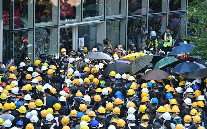 Protesters in Hong Kong Breach Government Building as Protests Turn Violent