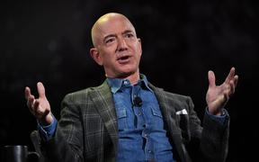 Amazon Founder and CEO Jeff Bezos in Las Vegas, Nevada on June 6, 2019.