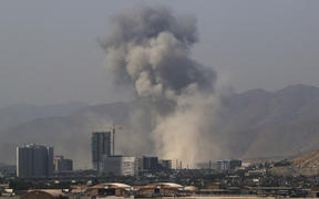 Smoke rises from the scene of a suicide bombing in Kabul, Afghanistan.