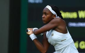 Wimbledon Tennis Tournament, Cori Gauff (USA).