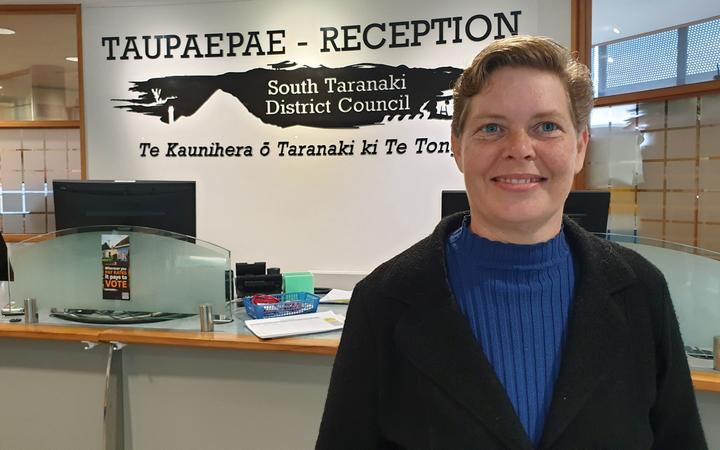 Council roading officer Sue Copeland