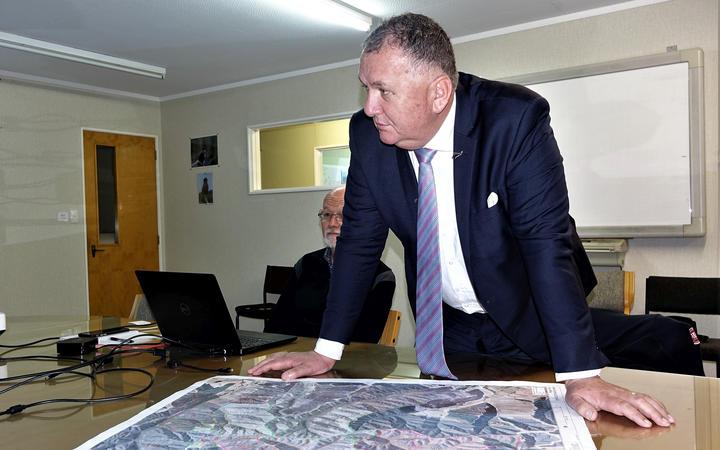 Forestry Minister Shane Jones in Nelson.