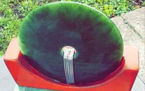 The pounamu which has been stolen from a grave site in Rotorua.