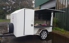 Auckland's Repair Cafe trailer, after the theft of $20K of tools