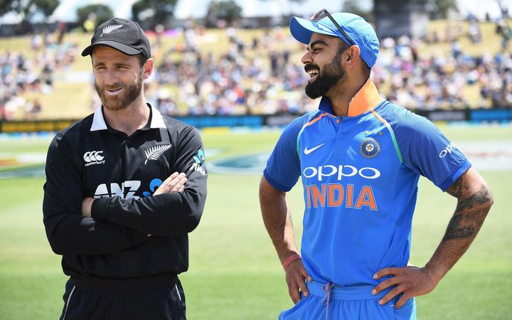 Black Caps captain Kane Williamson and Indian counterpart Virat Kohli.