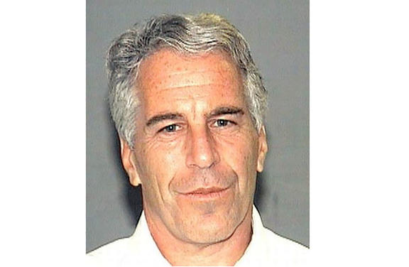 Jeffrey Epstein pictured in a handout photo from the Palm Beach County Sheriff's Department.
