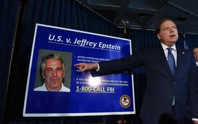 Attorney for the Southern District of New York Geoffrey Berman announces charges against Jeffery Epstein on 8 July 2019.