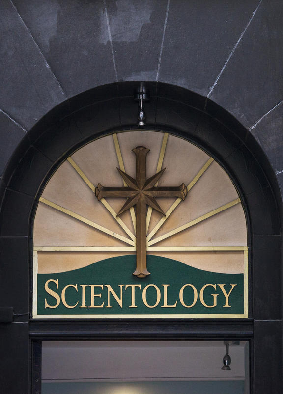 The entrance to a Scientology Centre.