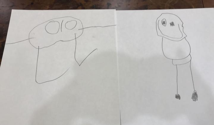 As children age their development is expressed through their drawing of the human figure.