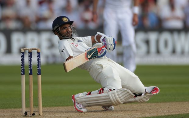 The Indian batsman Ajinkya Rahane.