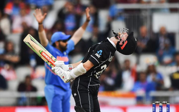 Kane Williamson playing against India World Cup 2019.