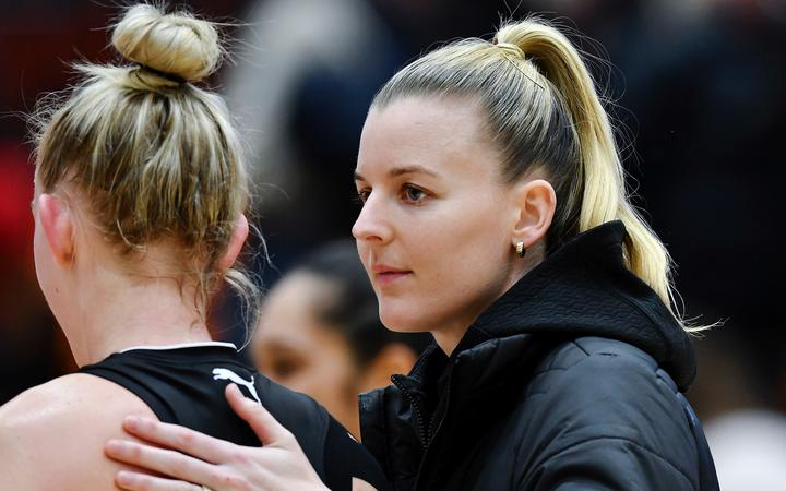 Injured Silver Ferns Katrina Rore.