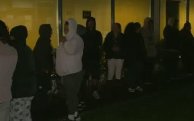 The early morning line outside a South Auckland Work and Income office.