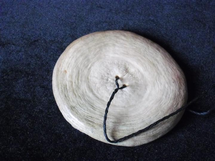 Porotiti upokohue - taonga puoro by Alistair Fraser from a whale vertebra