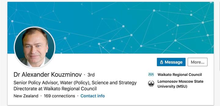 Former KGB bioterrorism agent Alexander Kouzminov previously held a position at MPI, and now works at Waikato Regional Council.