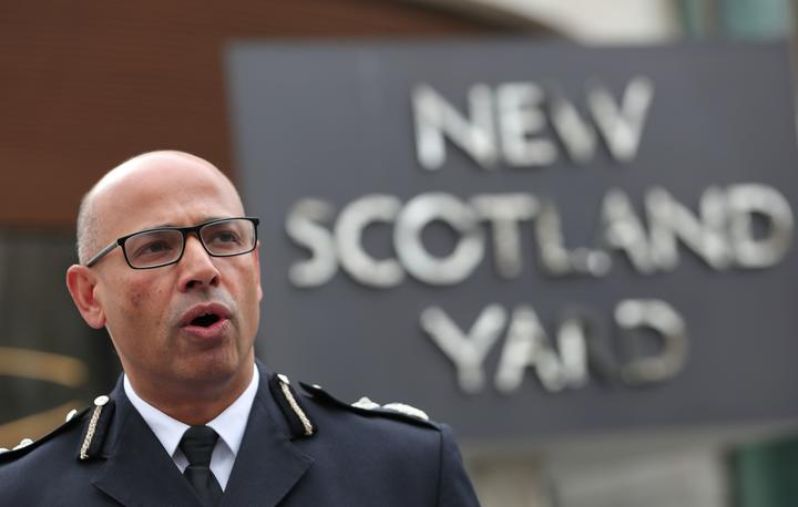 Senior national coordinator for counter-terrorism Neil Basu speaks to the press outside New Scotland Yard in central London on March 13, 2018.